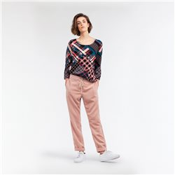 Sandwich Multicoloured Plaid Print Top Pink