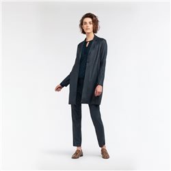 Sandwich Long Blazer Vegan Suede Look Green
