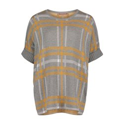 Betty Barclay Checked Short Sleeve Jumper Grey