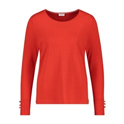 Gerry Weber Jumper With Sleeve Button Detail Red