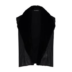 Betty Barclay Faux Fur Gilet Black