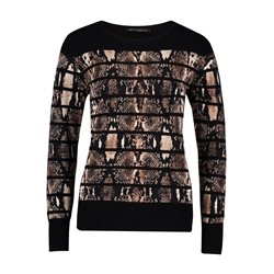 Betty Barclay Animal Print Jumper Black