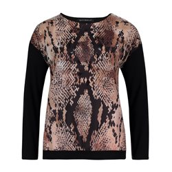 Betty Barclay Animal Print Tip With Full Length Sleeve Black