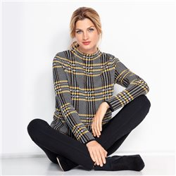 Olsen Glen Check Design Jumper Black
