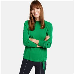 Taifun Jumper With Tie Detail Green