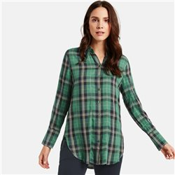 Taifun Check Blouse Green