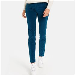Taifun Velvet Trousers Blue