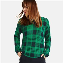 Taifun Tartan Check Jumper Green