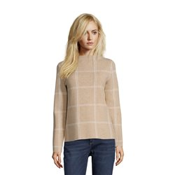 Betty & Co Check Knit Jumper Beige