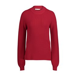 Betty & Co Ribbed Jumper Red