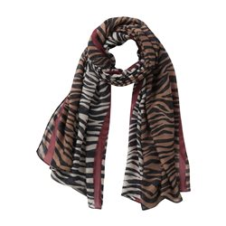 Betty & Co Animal Print Scarf Beige