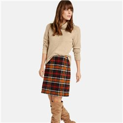 Taifun Plaid Skirt Black