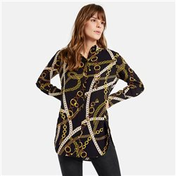 Taifun Chain Print Blouse Black