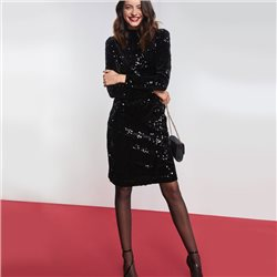Taifun Sequin Dress Black