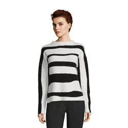 Betty & Co Striped Jumper Black