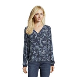 Betty & Co Paisley Print Blouse Blue