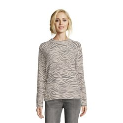 Betty & Co Zebra Knit Jumper Grey
