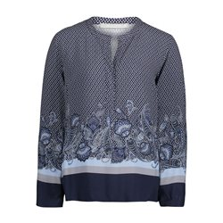 Betty & Co Paisley Blouse Blue