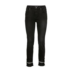 Monari Jeans With Sparkle Hem Black