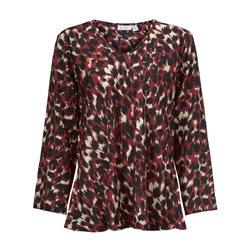 Masai Kala Animal Print Top Red