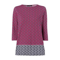 Olsen 3/4 Sleeve Graphic Top Red
