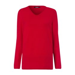 Olsen V Neck Soft Jumper Red