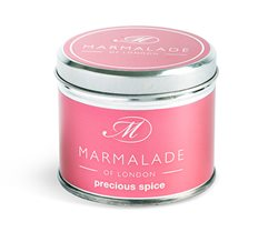 Marmalade Of London Precious Spice Medium Tin Candle Red