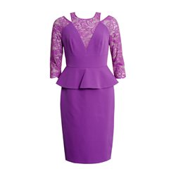 Cabotine Peplum Dress Purple