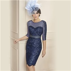 Zeila Lace Dress Navy