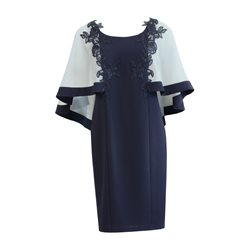 Zeila Cape Dress Navy