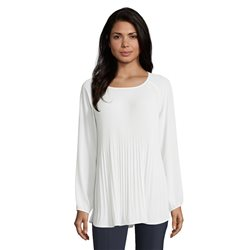 Betty Barclay Fine Pleated Blouse Off White