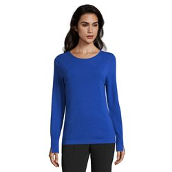 Betty Barclay Button Trim Knit Top Blue