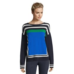 Betty Barclay Colour Block Jumper Blue