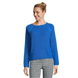 Betty Barclay Round Neck Jumper With Tie Detail Blue