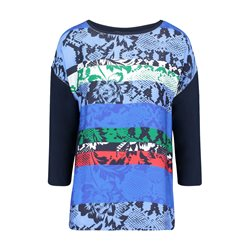 Betty Barclay 3/4 Sleeve Graphic Print Top Blue