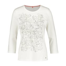 Gerry Weber Round Neck 3/4 Sleeve Top Off White