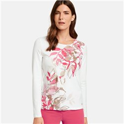 Gerry Weber Floral Design Long Sleeve Top Off White