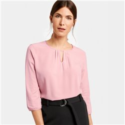 Gerry Weber 3/4 Sleeves Top With Inset Pleats Pink
