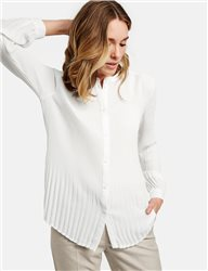 Gerry Weber Pleated Long Sleeve Blouse Off White