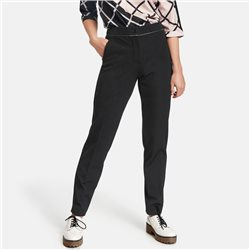 Gerry Weber Trousers With Contrasting Piping Black