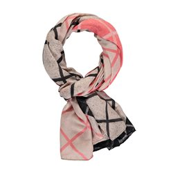 Gerry Weber Check Pattern Scarf Coral