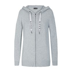 Lebek Knitted Zip Cardigan Grey