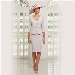 Ronald Joyce 991507 Dress And Jacket Taupe