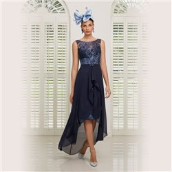 Ronald Joyce 991514 Lace Dress Blue