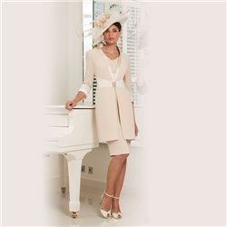Ronald Joyce 991531 Dress And Coat Almond