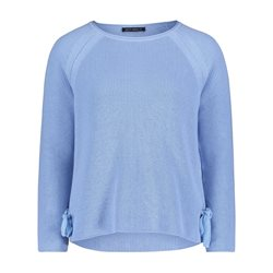 Betty Barclay Round Neck Jumper With Tie Detail Light Blue