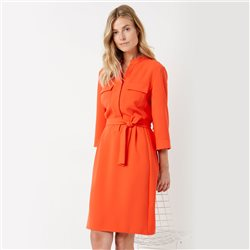 Gerry Weber Tie Belt Dress Orange