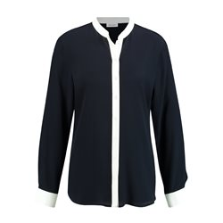 Gerry Weber Long Sleeve Blouse With Contrasting Edges Navy