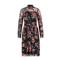 Taifun Floral Patterned Dress Black