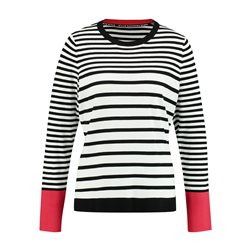 Taifun Black Stripe Jumper Off White